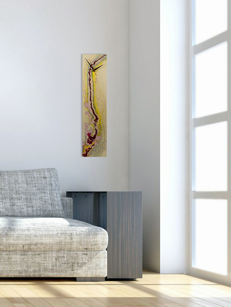 Abstract Glass Wall Clocks with Modern Design - Click for more