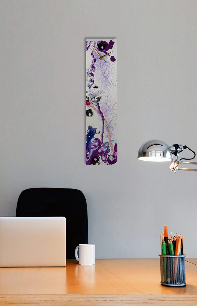 White and Purple Contemporary Glass Art  - Click for more