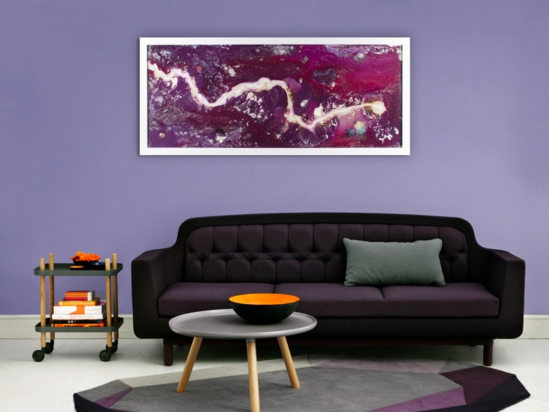 Extra Large Abstract Artwork with Lighting in situ