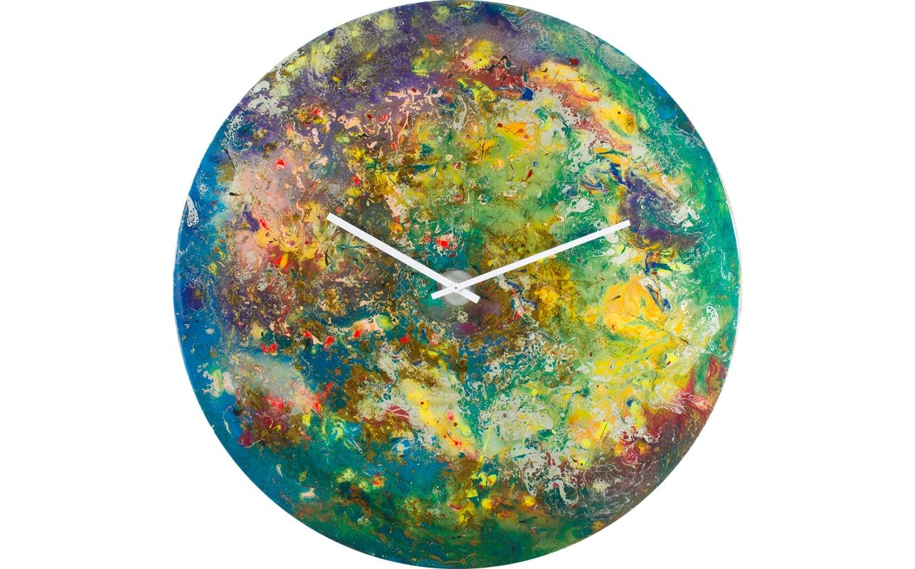 Green and Gold Clock with Beautiful Accent Colours