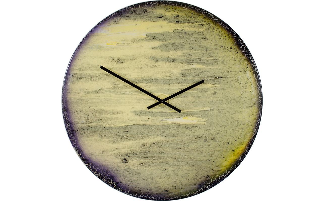 Extra Large Contemporary Clock Luxury Handmade Glass Art