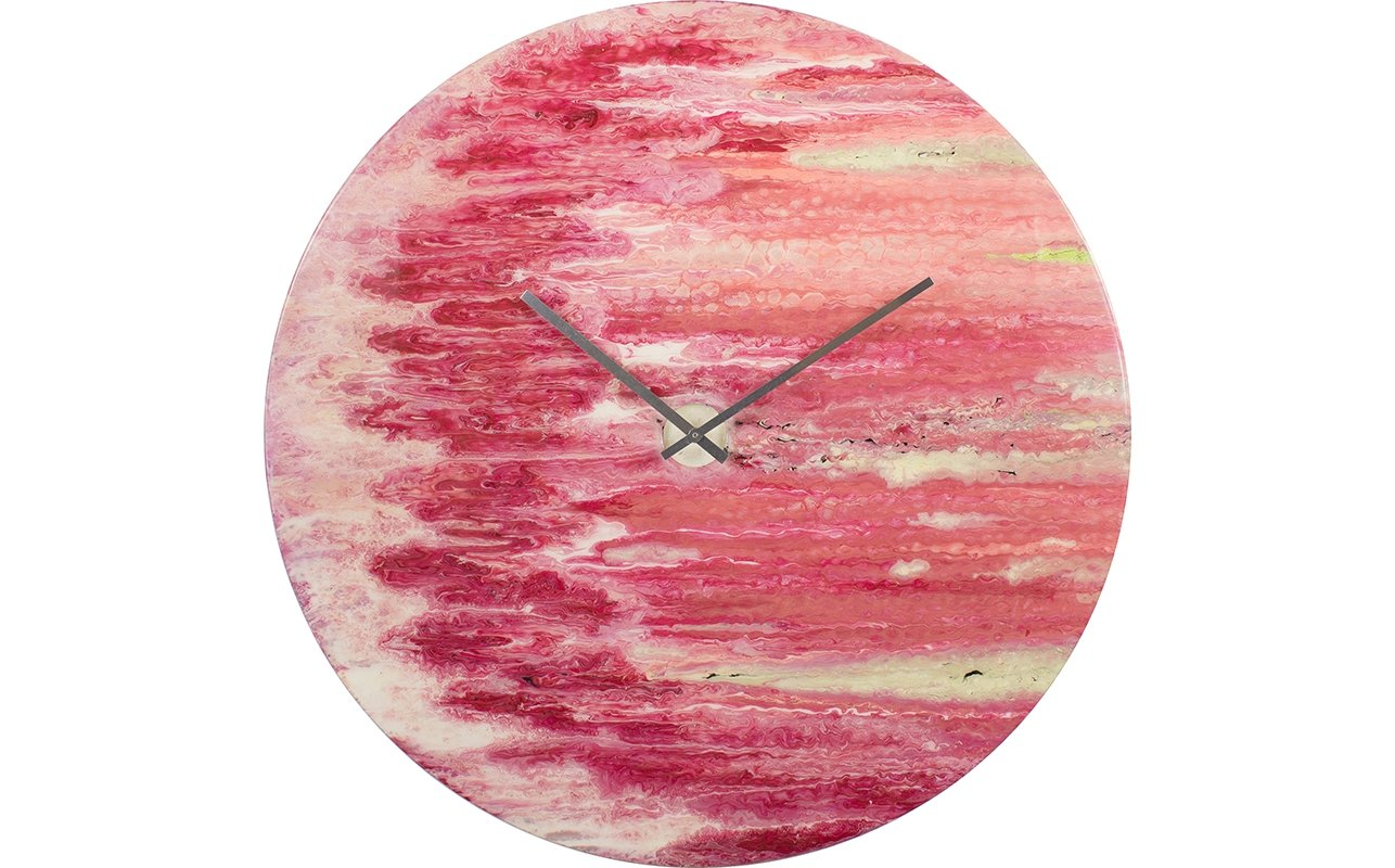 Extra Large Red Wall Clock with Lighting