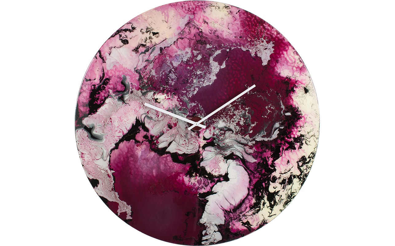 Extra Large Wall Clock in Purple and White