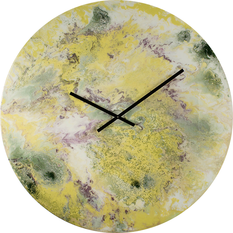 extra large yellow wall clock home decor wall art