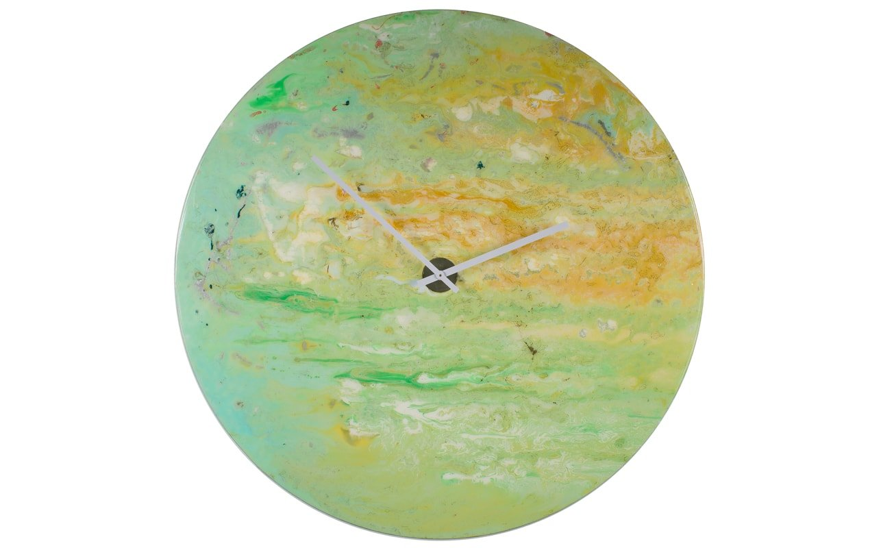 Light Green Circular Wall Clock