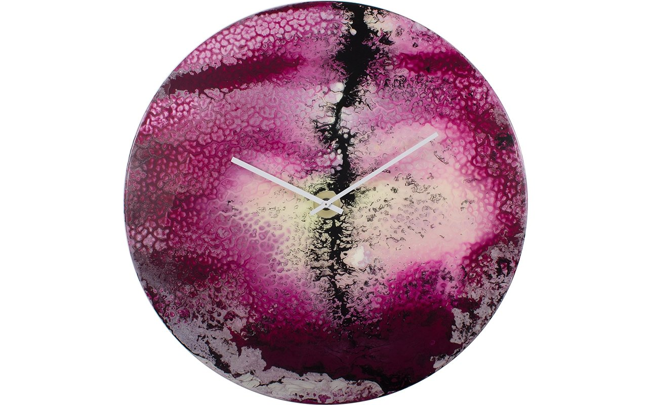 Oversized Decorative Clock in Purple