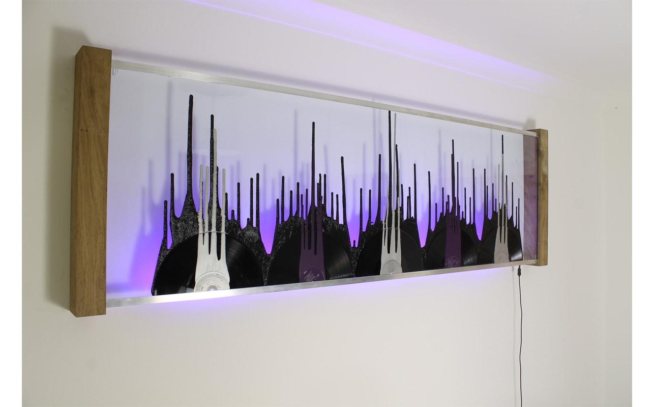 Melting Vinyl Wall Art Record Art For Dj S