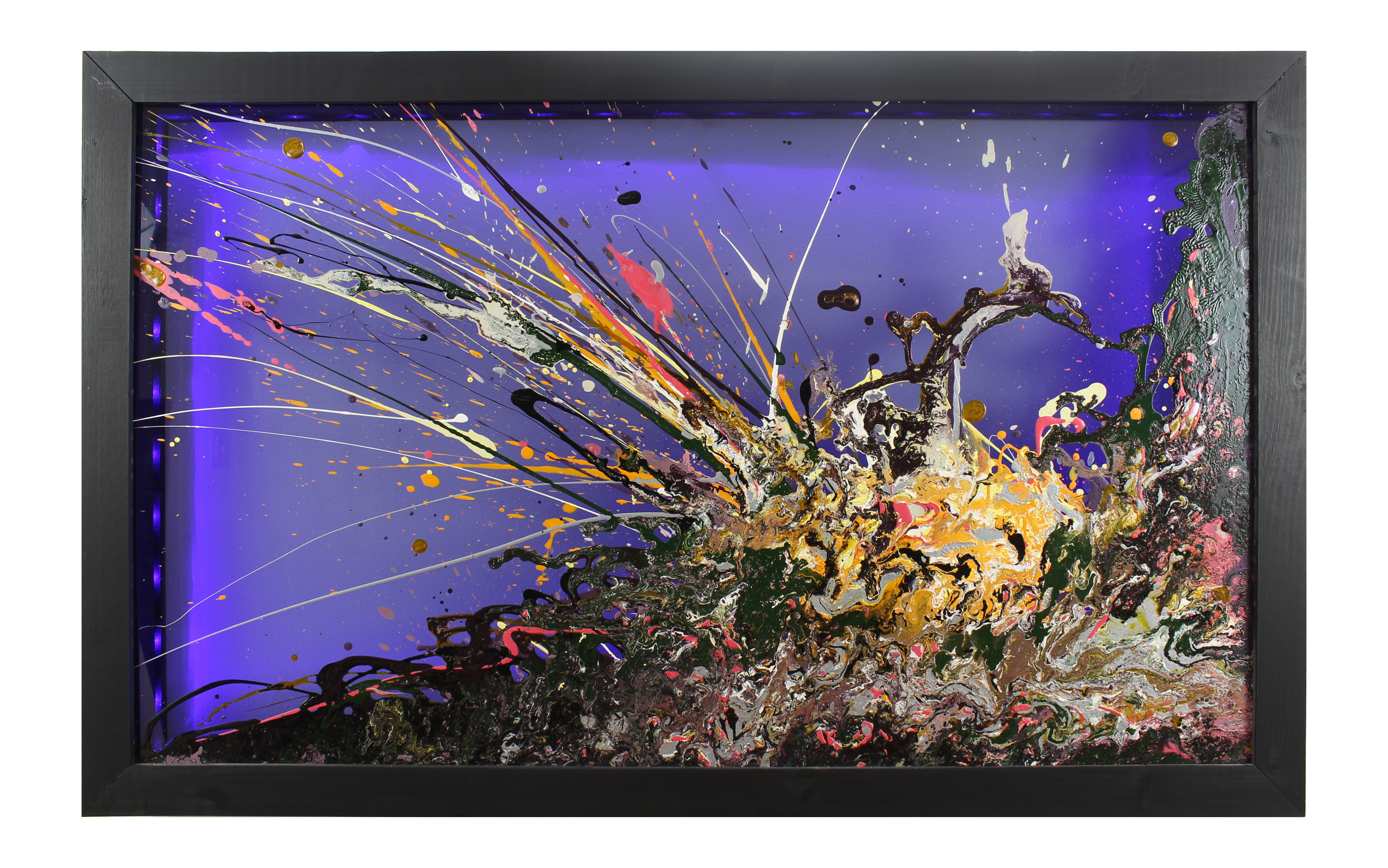 Abstract Glass Art | Framed | With Lighting